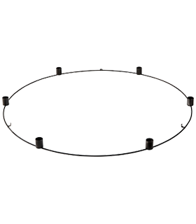 Ernst - Ljuskrona metall - svart