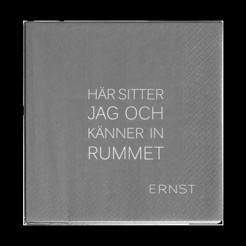 """Ernst - Servett """"känner in rummet"""" - grå"""