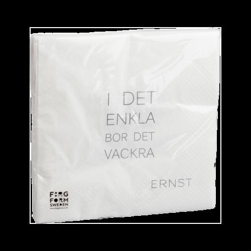 """Ernst - Servett """"I det enkla"""" - vit"""