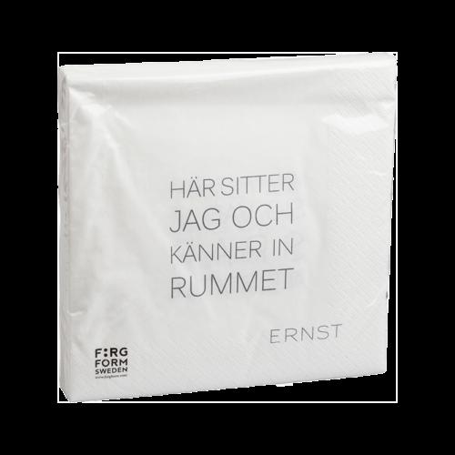 """Ernst - Servett """"känner in rummet"""" - vit"""