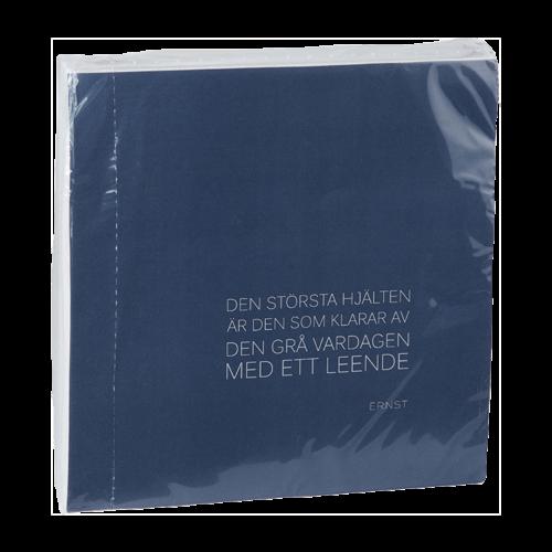 Ernst - Servett citat - blå