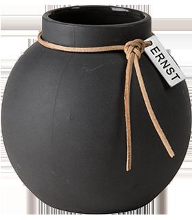 Ernst - Vas stengods rund - mörkgrå