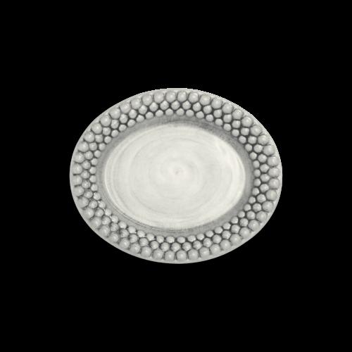 Mateus - Grå bubbles oval 20cm