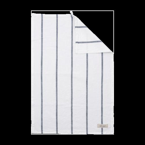 Ernst - Kökshandduk ERNST - vit med grå rand