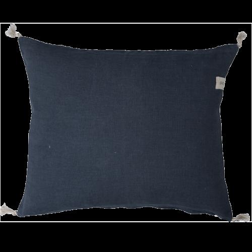 Ernst - Kuddfodral med tofsar - mörkblå