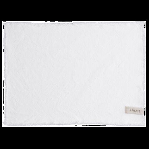 Ernst - Tablett med fransad kant - vit