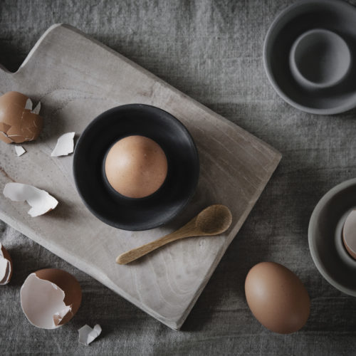 Ernst - Äggkopp, stengods - mörkgrå