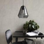 House Doctor - Lamp, Hood, Grey, dia: 22.5 cm, h: 25 cm, E27, 25 W, 3,0 m ledning