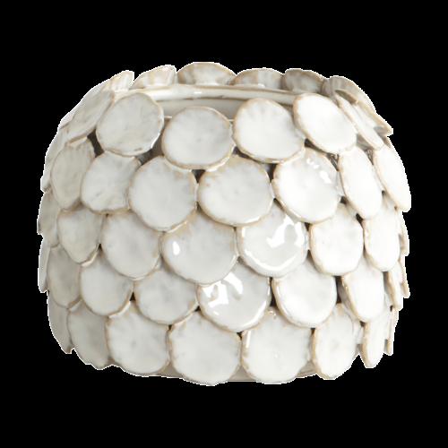 House Doctor - Vase, Dot, white, dia.: 15 cm, h.: 10 cm