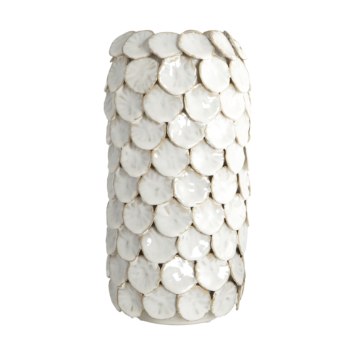 House Doctor - Vase, Dot, white, dia.: 15 cm, h.: 30 cm