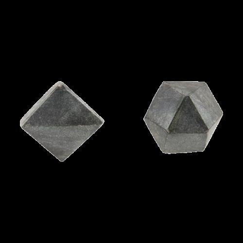 House Doctor - Knop, Cubes, asstd. 2 designs, black/grey marble, dia.: 2,2 cm