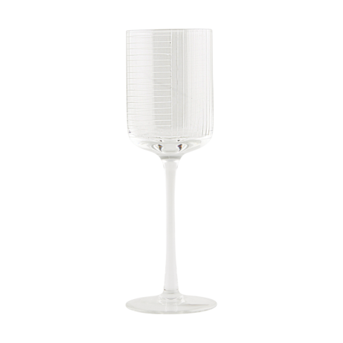 House Doctor - Red wine glass, Check, dia.: 7.3 cm, h.: 23.5 cm