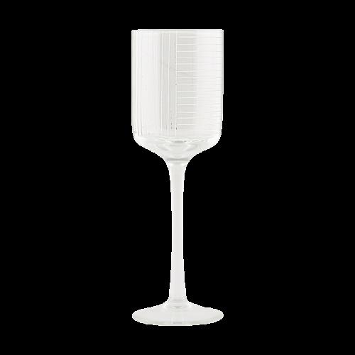 House Doctor - White wine glass, Check, dia.: 7 cm, h.: 22 cm