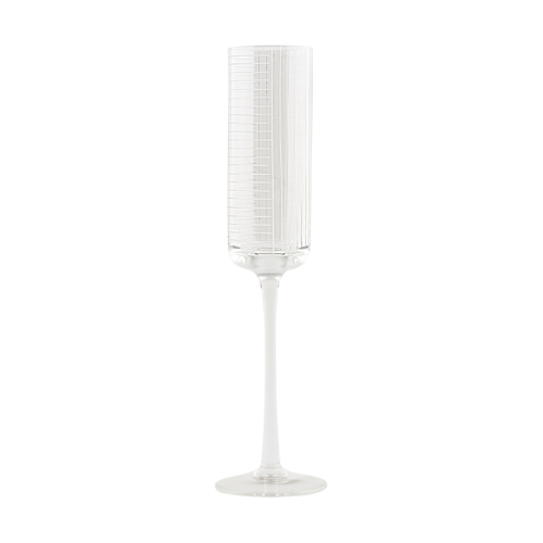 House Doctor - Champagne glass, Check, dia.: 5.2 cm, h.: 26.5 cm