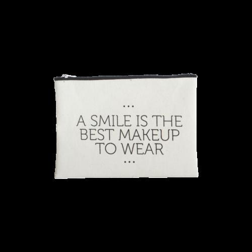 House Doctor - Makeup bag Smile 21x15cm