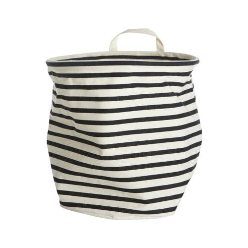 House Doctor - Storage, Stripes, dia.: 30 cm, h.: 30 cm, 37.5% cotton/40.4% polyester/22.1% rayon