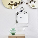 House Doctor - Mirror hang, black