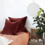 House Doctor - Pillowcase, Velv, Burnt henna, l: 50 cm, b: 50 cm
