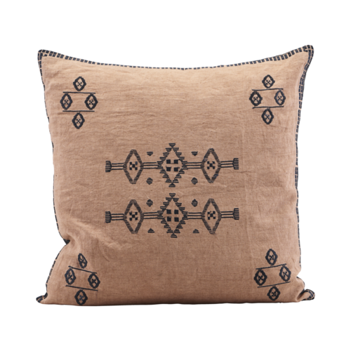 House Doctor - Pillowcase, Inka, Nude, l: 50 cm, w: 50 cm