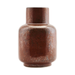 House Doctor - Vase, Ruka, Burgundy, dia: 11 cm, h: 17 cm