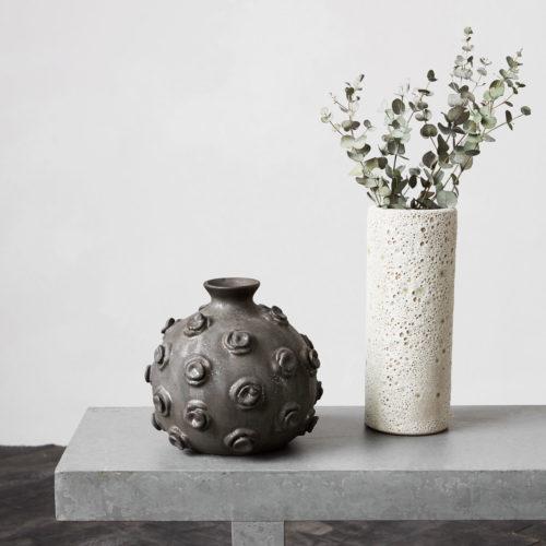 House Doctor - Vase, Marv, Stained black, dia: 23 cm, 20 cm
