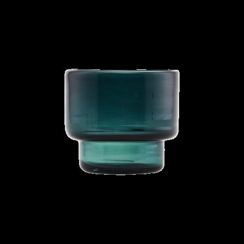 House Doctor - Tealight candlestand, Mute, Blue/Green, cm, h: 9 cm