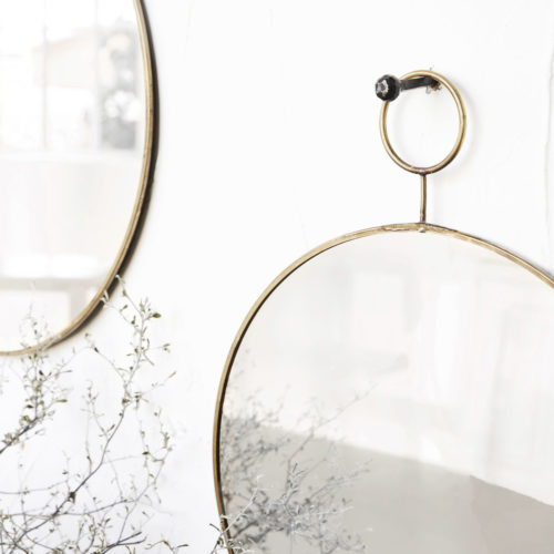 House Doctor - Mirror, The Loop, Brass, dia: 38 cm