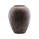 House Doctor - Vase, Etnik, Red, dia: 33 cm, h: 40 cm