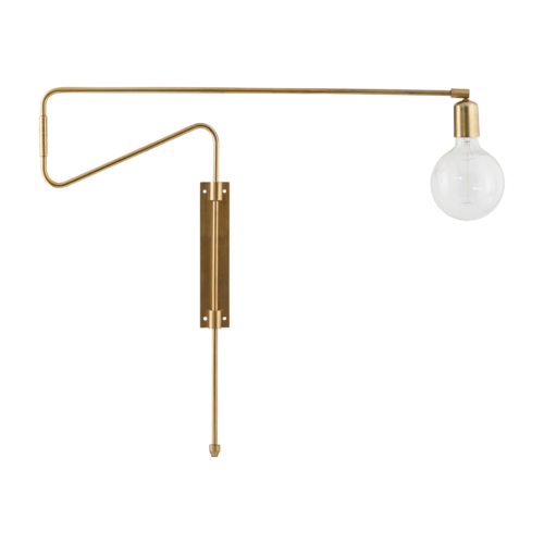 House Doctor - Wall lamp, Swing, brass, l.: 70 cm, E27, max 25 watt, 3.5 m cable
