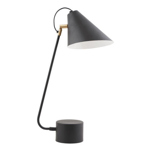 House Doctor - Table lamp, Club, black/white, dia.: 18-20 cm, h.: 54 cm, E27, max 25 watt, 2.5 m cable