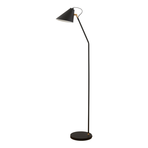 House Doctor - Floor lamp, Club, black/white, dia.: 18-20 cm, h.: 130 cm, E27, max 25 watt, 3.5 m cable