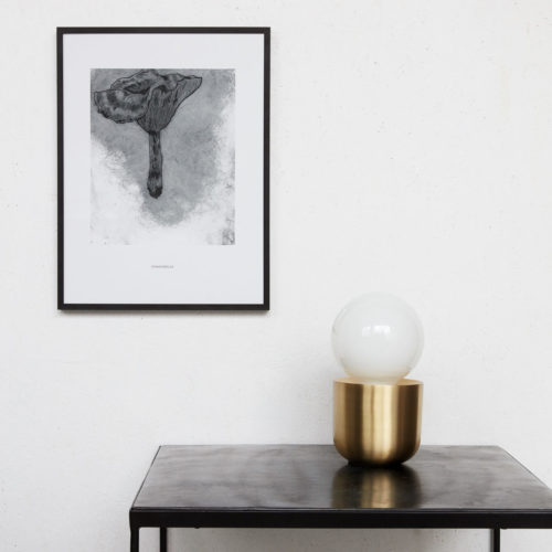 House Doctor - Illustration, chanterelle, black 30x40