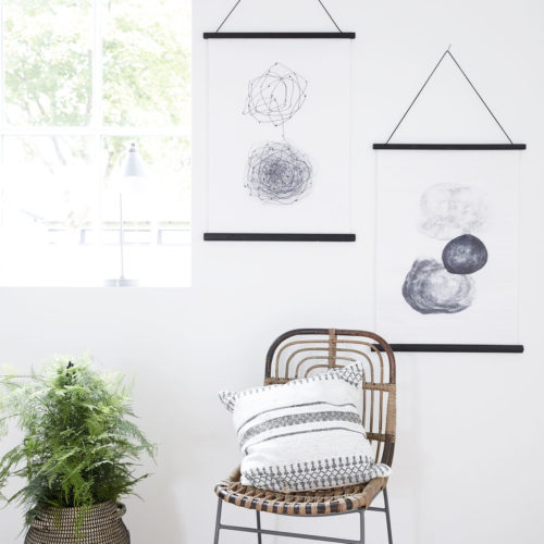House Doctor - Wall art, rock 50x70cm