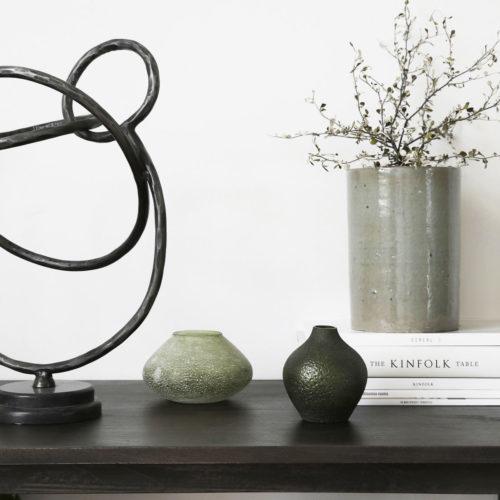 House Doctor - Vase, Forrest, Green, dia: 9 cm, h: 10