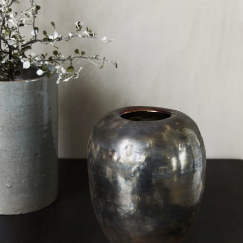 House Doctor - Vase, Mirror, dia: 14.5 cm, h: 19 cm