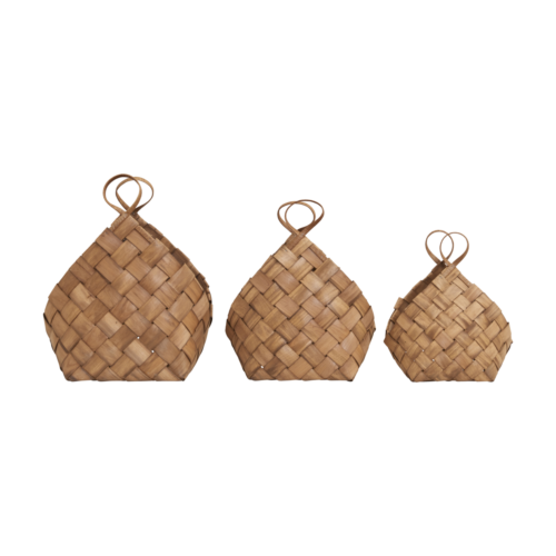 House Doctor - Baskets, Conical, Brown, L: l: 49 cm, b: 33 c