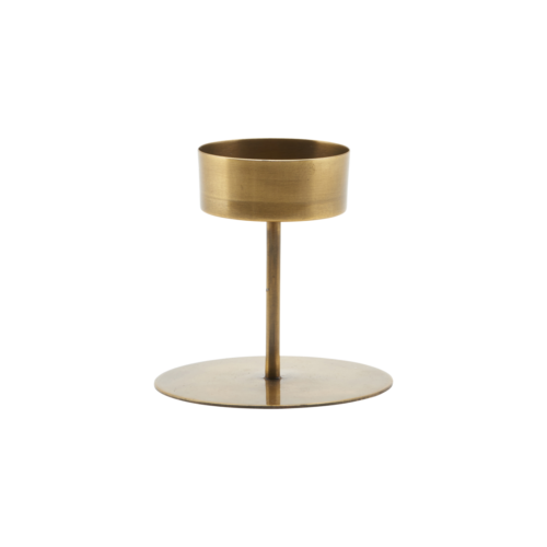 House Doctor - Candle stand, Anit, Antique brass, dia: 10,5 cm, h: 10 cm
