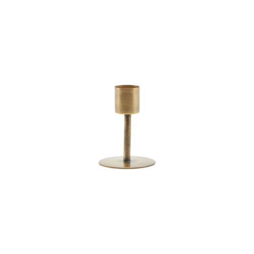 House Doctor - Candle stand, Anit, Antique brass, dia: cm, h: 7 cm