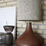 House Doctor - Table lamp, Diya, Burnt henna, dia: 26 cm, h: 34 cm, E27, max 40 W, 1,60 m ledning, Komplett
