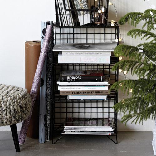 House Doctor - Rack, 3 Tier, set of 3 pcs, black, 38x26 cm, h.: 68 cm