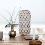 House Doctor - Vase, Dot, white, dia.: 15 cm, h.: 30 cm