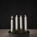 Ernst - Ljusskål 4 kronljus, vit