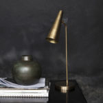 House Doctor - Table lamp, Precise, Brass finish, l: 52 cm, E14, Max 6 W (LED), 2,0 m ledning g
