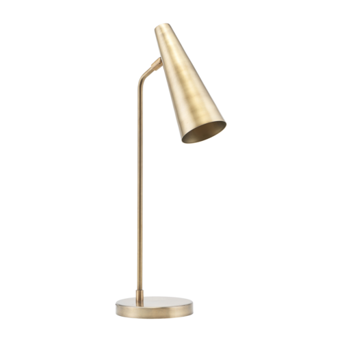 House Doctor - Table lamp, Precise, Brass finish, l: 52 cm, E14, Max 6 W (LED), 2,0 m ledning g