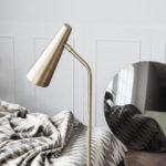 House Doctor - Floor lamp, Precise, Brass finish, dia: 124 cm, Max 25 W (LED), E14, 3.50 m ledning
