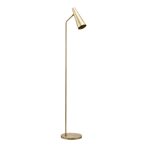 House Doctor - Floor lamp, Precise, Brass finish, dia: 124 cm, Max 25 W (LED), E14, 3.50 m ledning