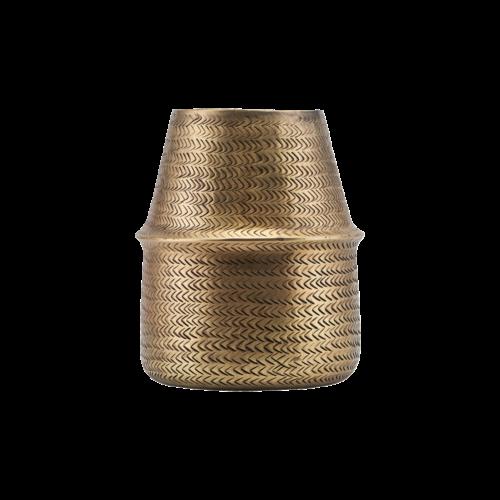 House Doctor - Planter, Rattan, Brass finish, dia: 19 cm, h: 23 cm