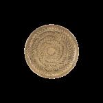 House Doctor - Tray, Rattan, Brass finish, dia: 12 cm cm