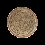 House Doctor - Tray, Rattan, Brass finish, dia: 16 cm cm