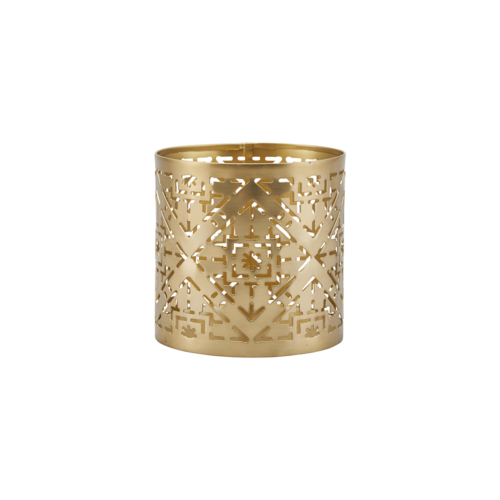 House Doctor - Tealight, Wilma, Brass finish, dia: 9 dia: 9 cm, h: 9 cm